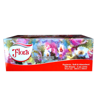 Flora Facial Tissue (200 Sheets)
