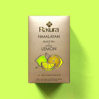 Rakura Himalayan Black Tea + Natural Lemon 25 Tea Bags Pack