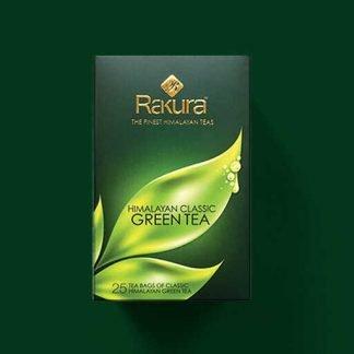 Rakura Himalayan Classic Green Tea 25 Tea Bags Pack